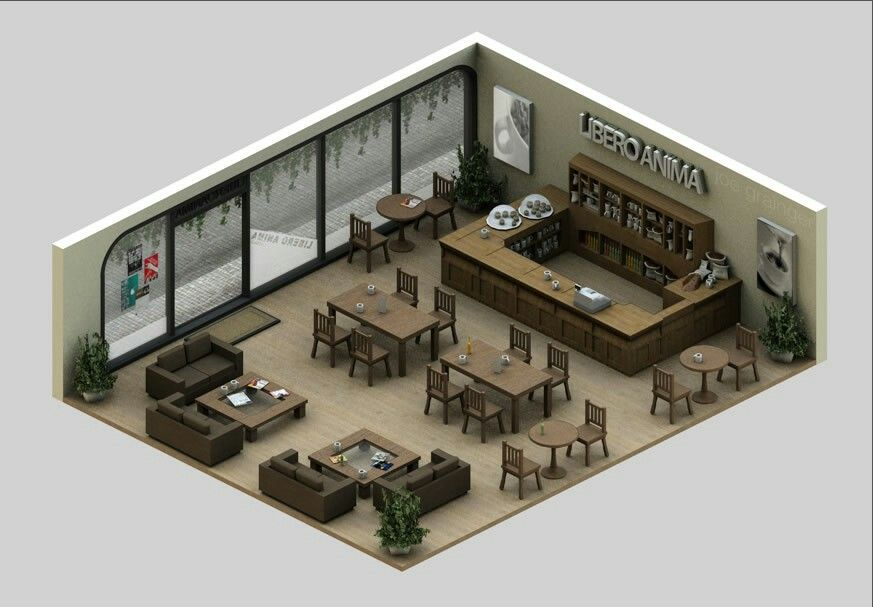 Pin By Henry On Low Poly Isometric Art Cafe Floor Plan Restaurant Layout Coffee Shop Design