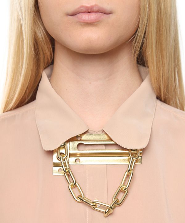 Chain Door Lock Necklace | Chains, Jewel and Jewelery