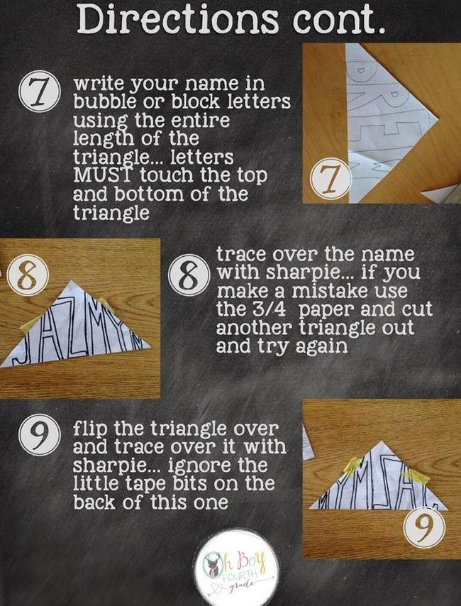 How To Make Stunning Symmetry Name Art Name Art Upper Elementary Art Lesson Art Lessons Elementary
