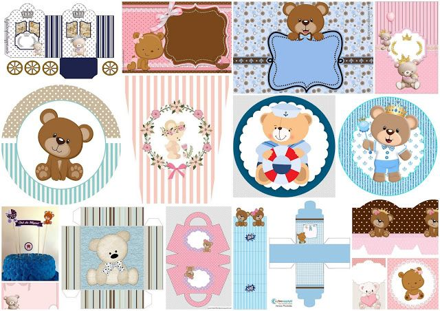 Bear Themed Party Free Printables Decoration Ideas And More Oh My Baby Baby Party Decorations Baby Party Themes Party Printables Free