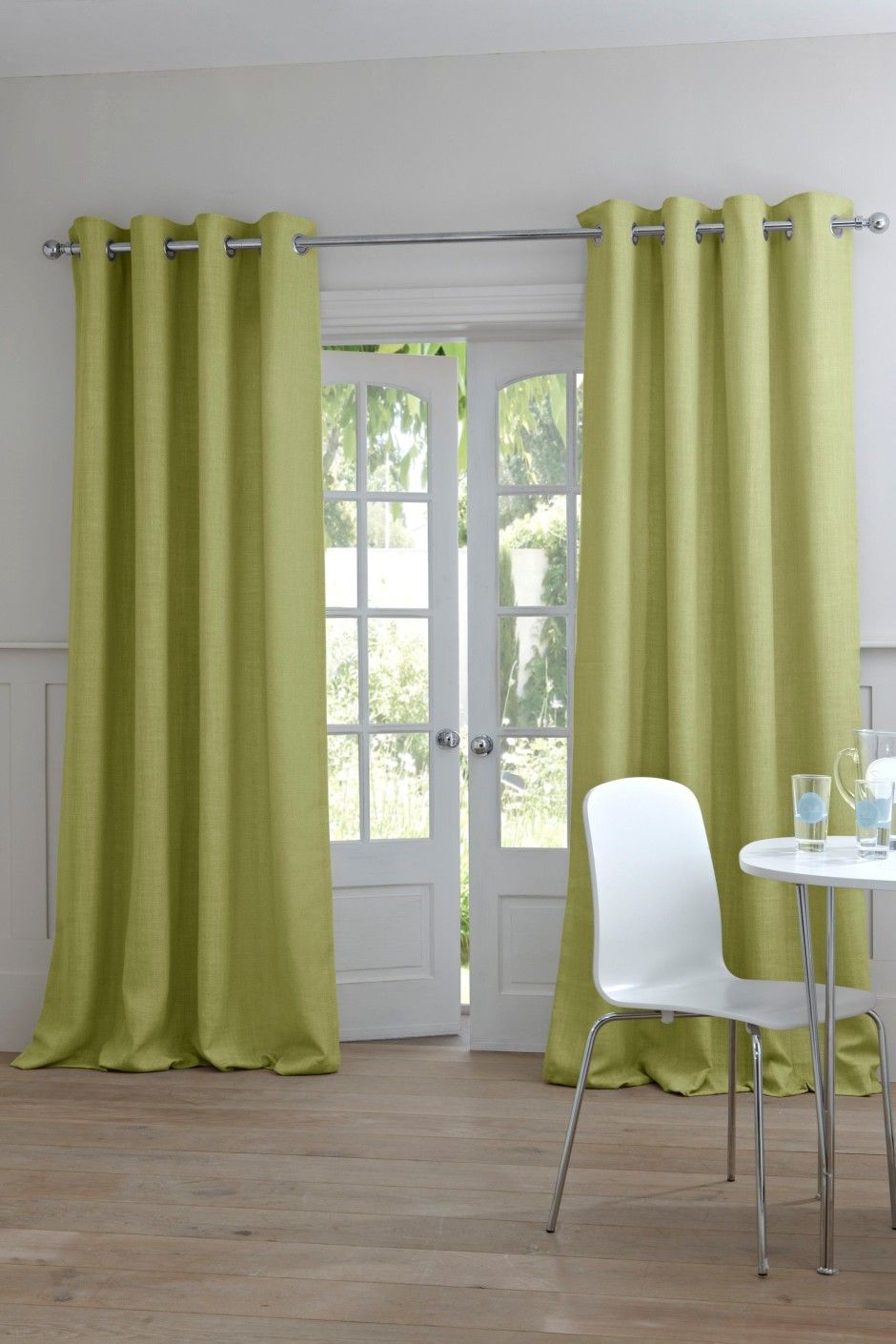 Elegant Green Curtain Design To Give The Freshness Room Elegant Green Curtain In White Room Curtains Living Room Elegant Curtains Elegant Living Room Green living room curtains