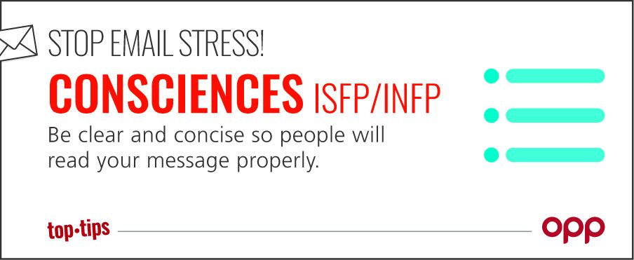 Stop email stress! ISFP INFP