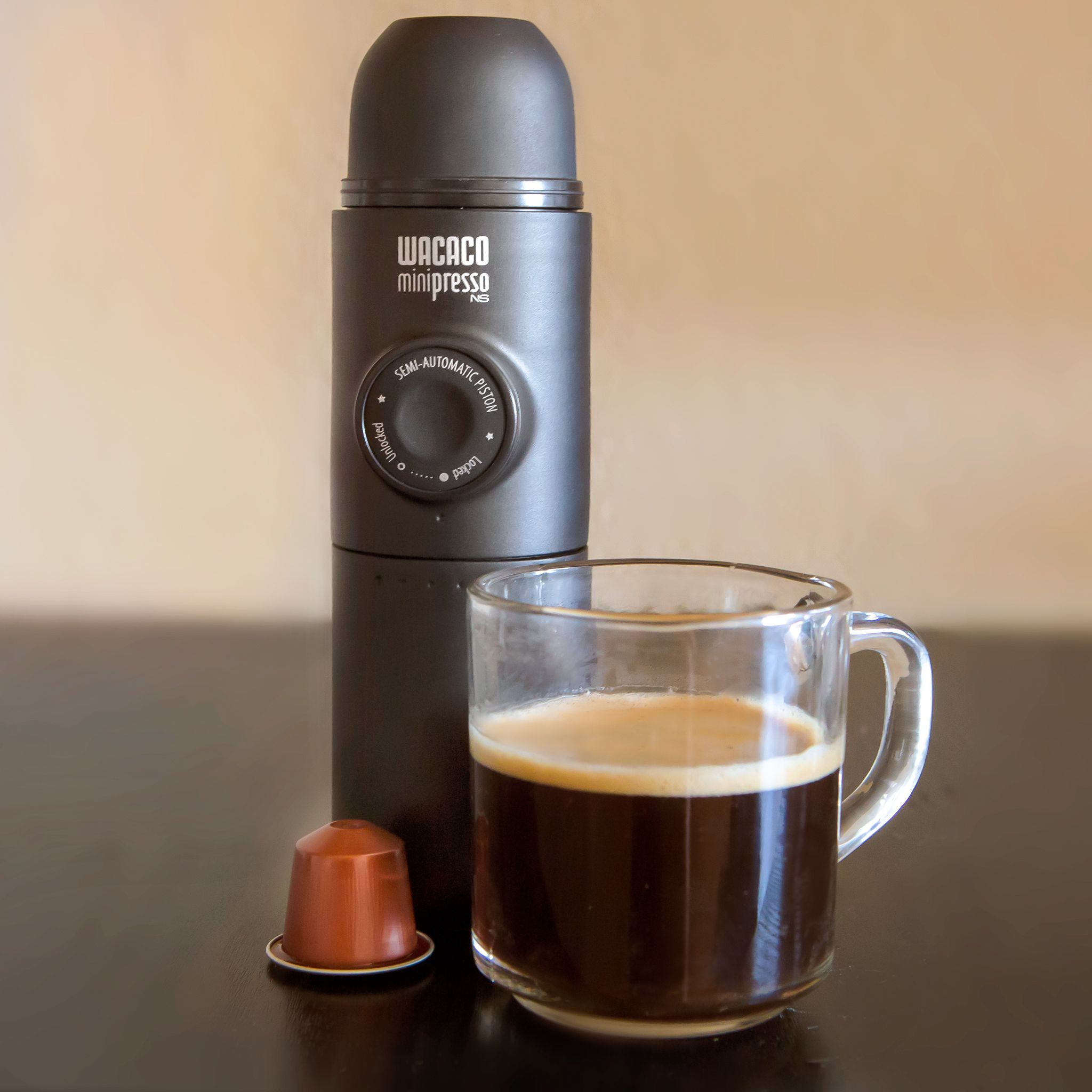 use the minipresso with the large water tank to make a 100ml shot to