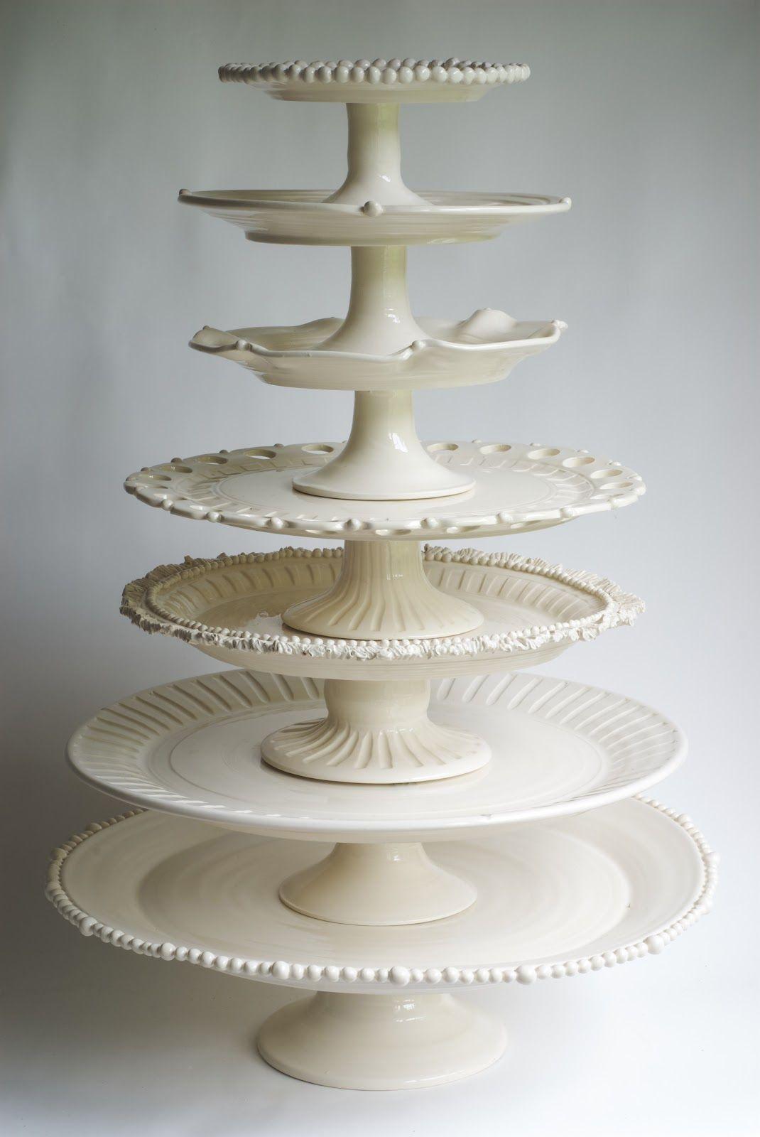 Cake plates! By Frances Palmer Pottery www.francespalmerpottery.com ...