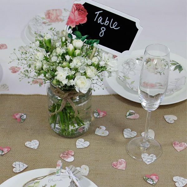 Tischlufer aus Leinen als Hochzeitsdeko Perfekt fr eine Hochzeit im Vintagestil  Tischdeko