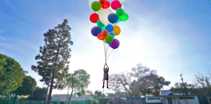 How many balloons does it take to float a human in 2020
