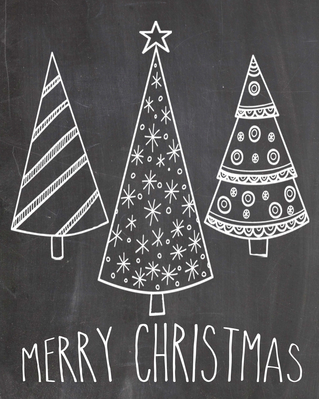 Képtalálat a következőre Simple Chalk Christmas Tree