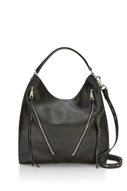 Moto Hobo Rebecca Minkoff Bag Leather Designer Slouchy Boho Black