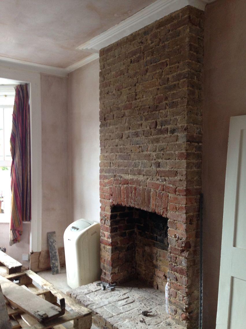 Living Room Plasteted Brick Restoration Brick Hearth Brick