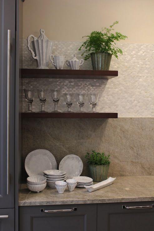 Aidan Design Gray Kitchen With Gray Kitchen Cabinets