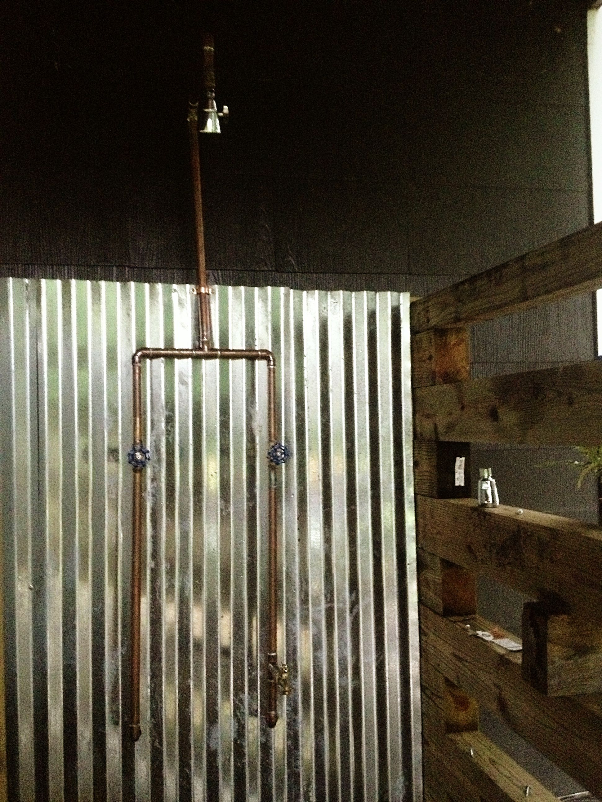 Outdoor Shower Enclosure | Pipes, Interiors and Shower enclosure