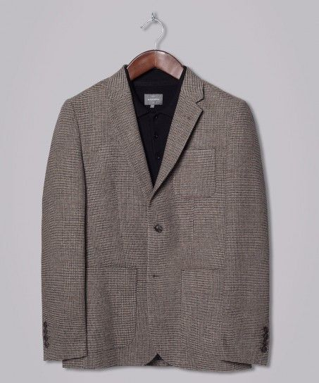 Tan Slaney Slim Fitting Single Breasted Blazer