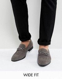c8f1646e25 ASOS DESIGN | ASOS DESIGN loafers in black faux suede with snaffle detail