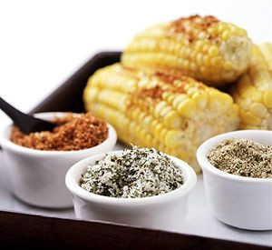 When hosting a cookout, mix up these three spice blends for topping corn on the cob. It's much more fun than plain salt.