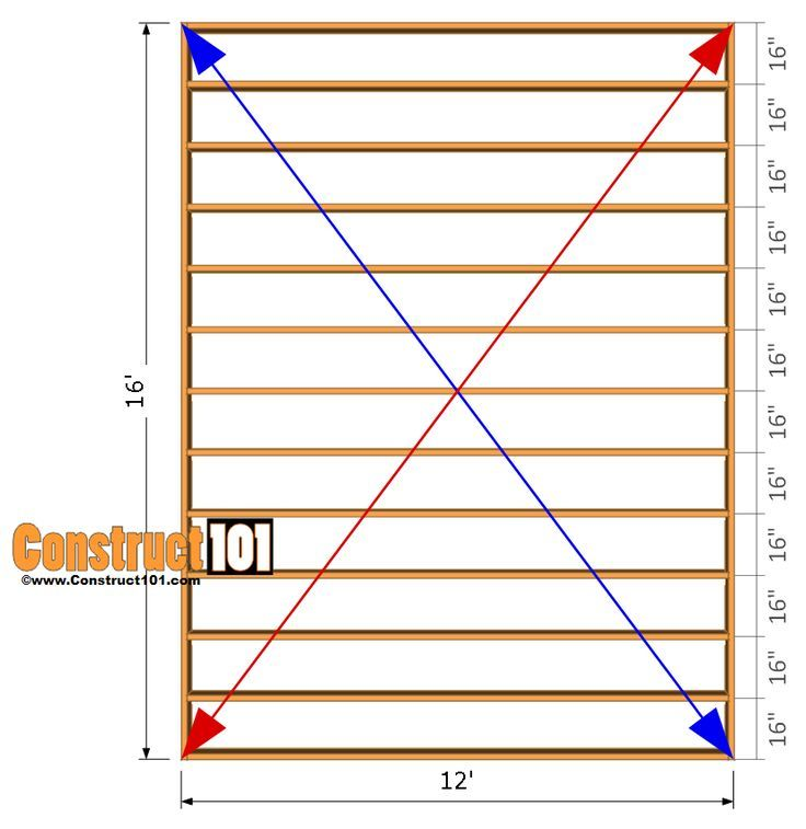 Diy Deck Plans Step By Step Small Deck Plans: 12x16 Shed Plans - Floor Frame