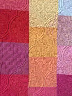 Gina Perkes quilt -Great example of decorative quilting.  Google