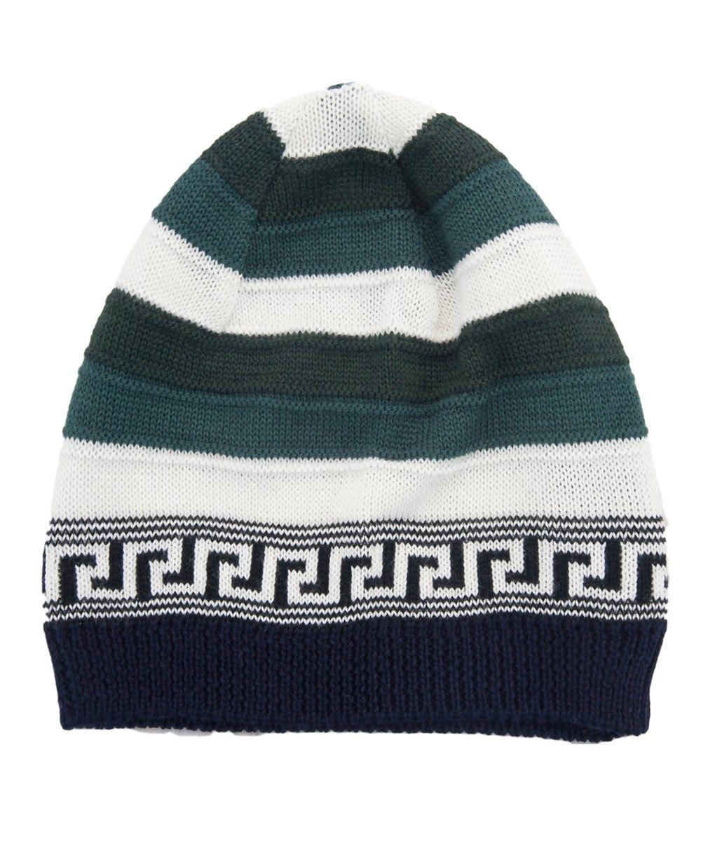 43fdd9adbef ... sale versace vhb0386 003 green white knitted wool blend beanie hat.  versace d26c5 d8ab5