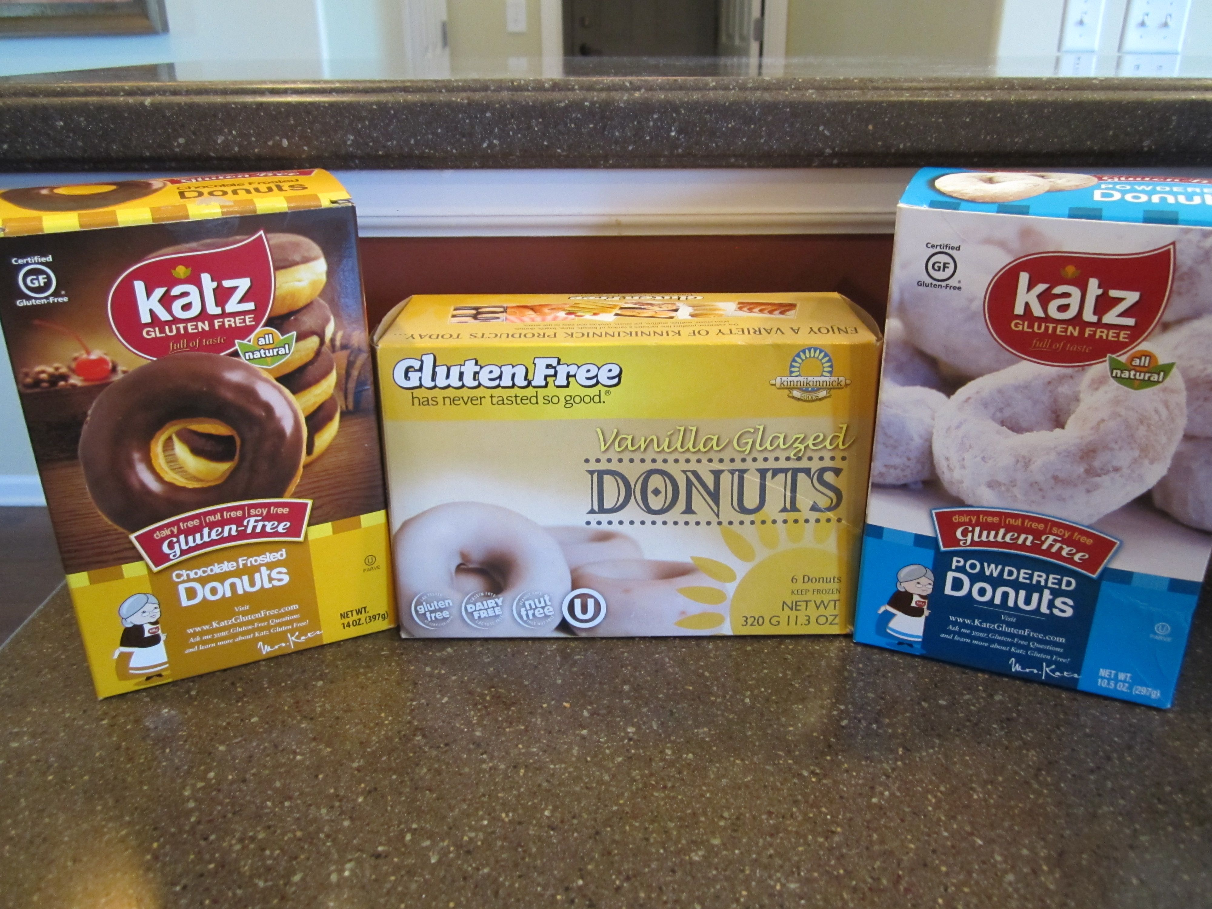 GFCF donuts. I get these at Woodman's. Katz are not ...