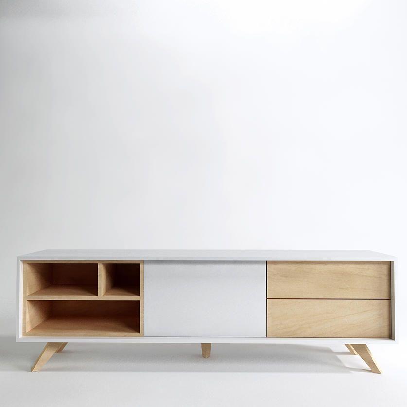 Mueble de estilo n rdico para espacios modernos muebles for Diseno de muebles para tv modernos