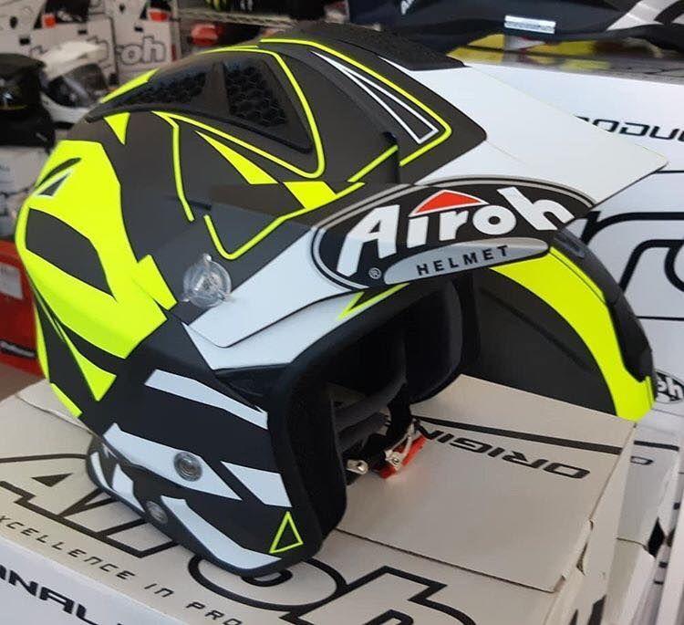 Helmet Jet On-Off Airoh Trr S Convert Yellow Matt