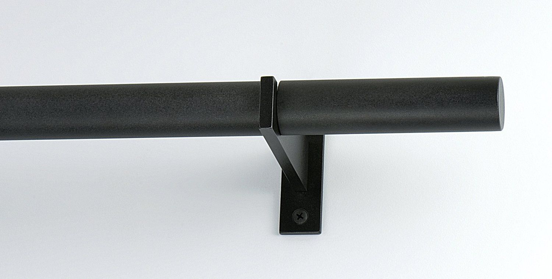 1 1 4 Casa Curtain Rod W 4 Standard Bauhaus Finial Curtain