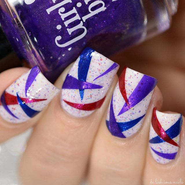 Nail Art Triangle Decal Design | Nail Art Designs (mine) | Pinterest ...