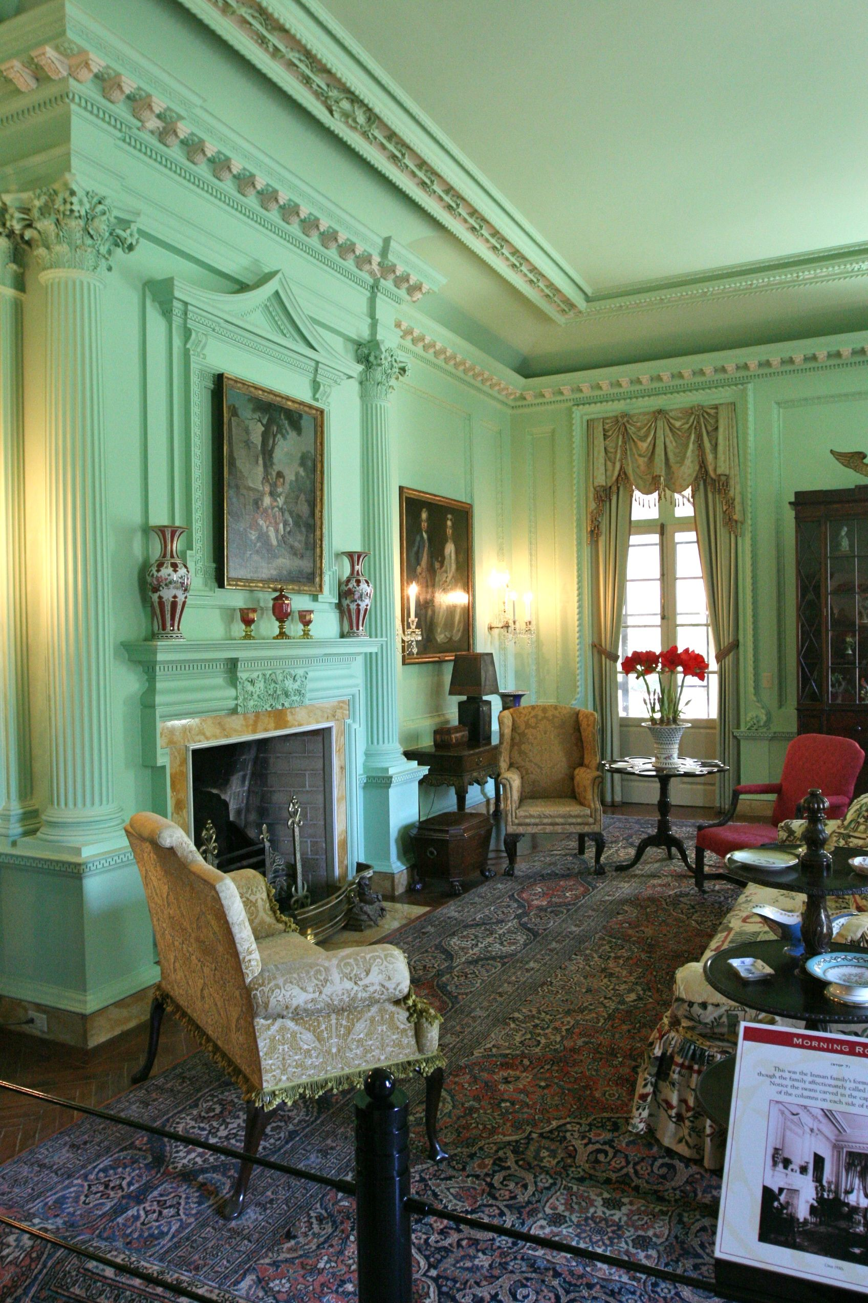 Mint Green Walls at Swan House in Atlanta | Beauty and history ...