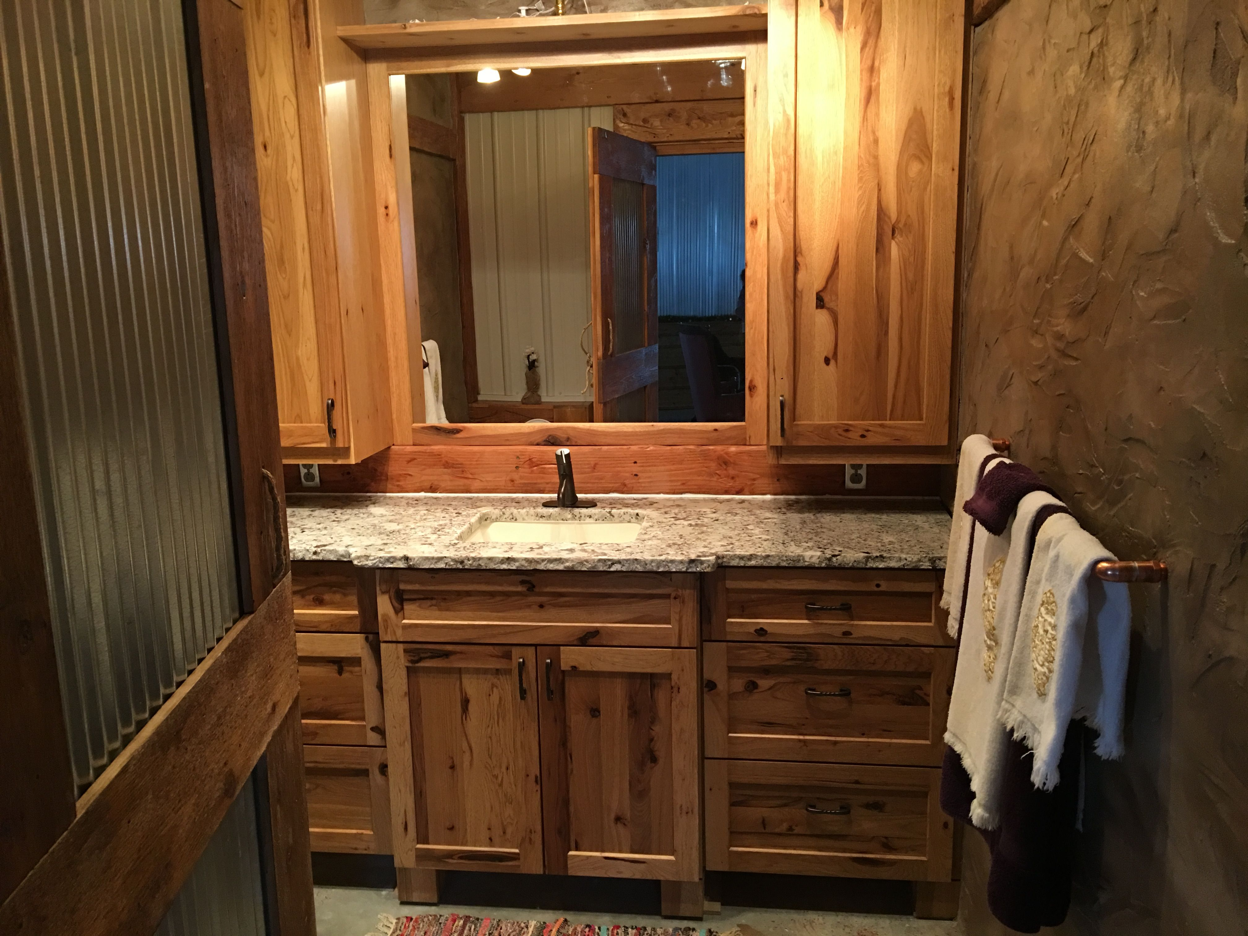 Best Finishing Up The Living Area Bathroom Amish Hickory 400 x 300