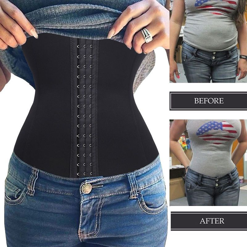 Corset Waist Trainer Cincher Slimming Body Shaper Long Torso for Weight Loss US
