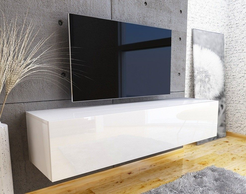 Nasmaak tv meubel galicia geheel hoogglans wit 100 cm for Hoogglans wit tv meubel