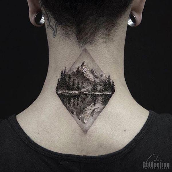 40 Mountain Tattoos Berg tattoos, Bergtattoo und
