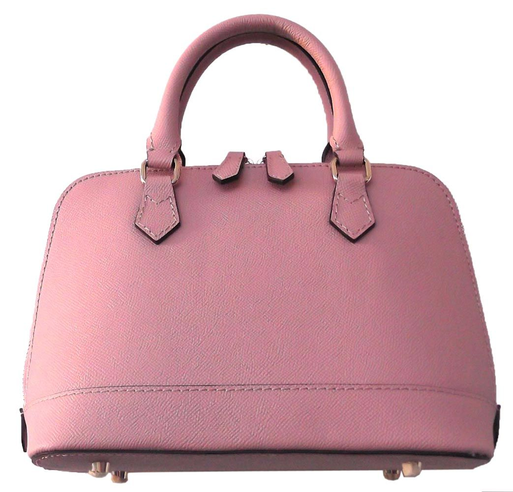 Light Pink Coloured Classic PU Tote Bag