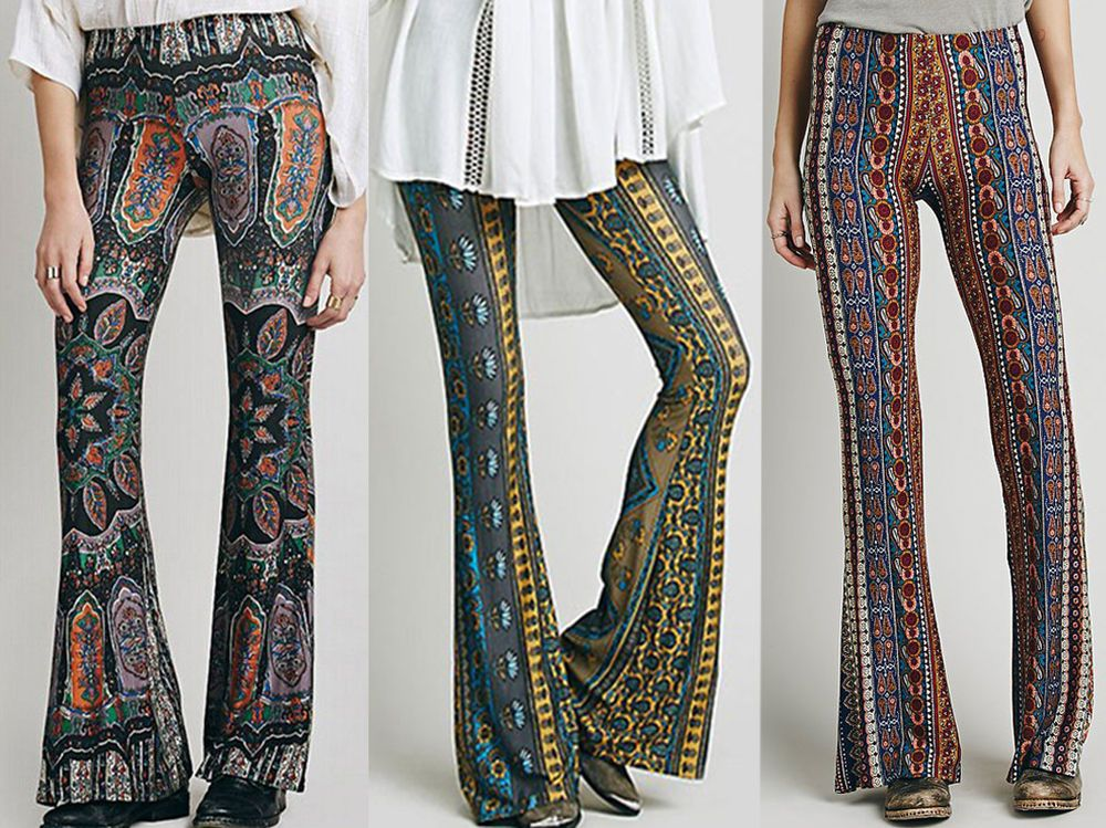 cd440399ad US Womens Stretch Flare Wide Leg Yoga Pants Boho Palazzo Bell Bottom Trouser  | Clothing, Shoes & Accessories, Women's Clothing, Pants | eBay!