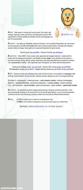 Best Cv Design For Résumé Of Creative People Color Scheme ...