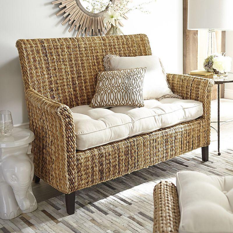 Sonita Banana Wicker Settee Pier 1 Imports Furniture Wicker