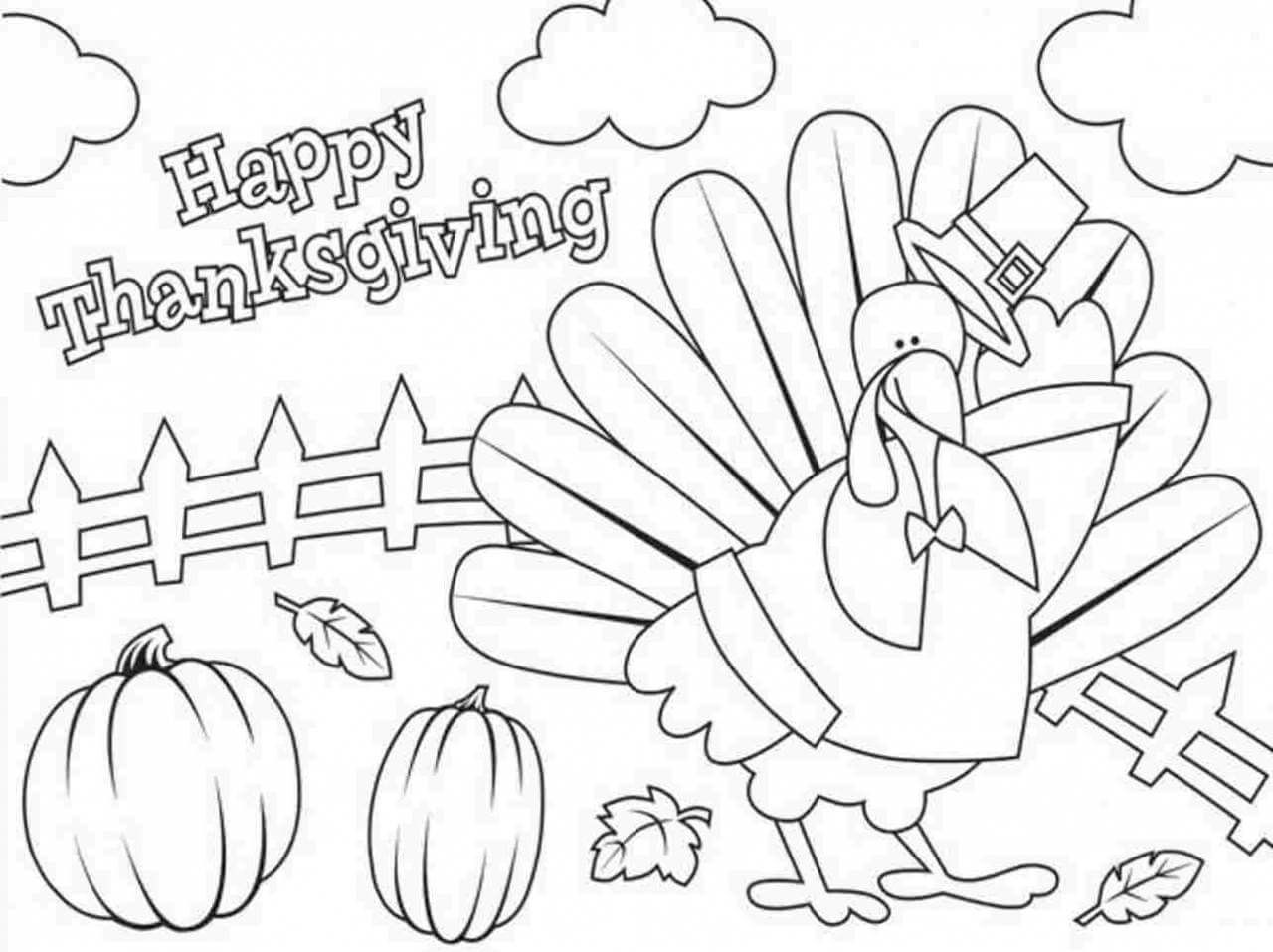 Cool Thanksgiving Coloring Pages For Children Free Thanksgiving