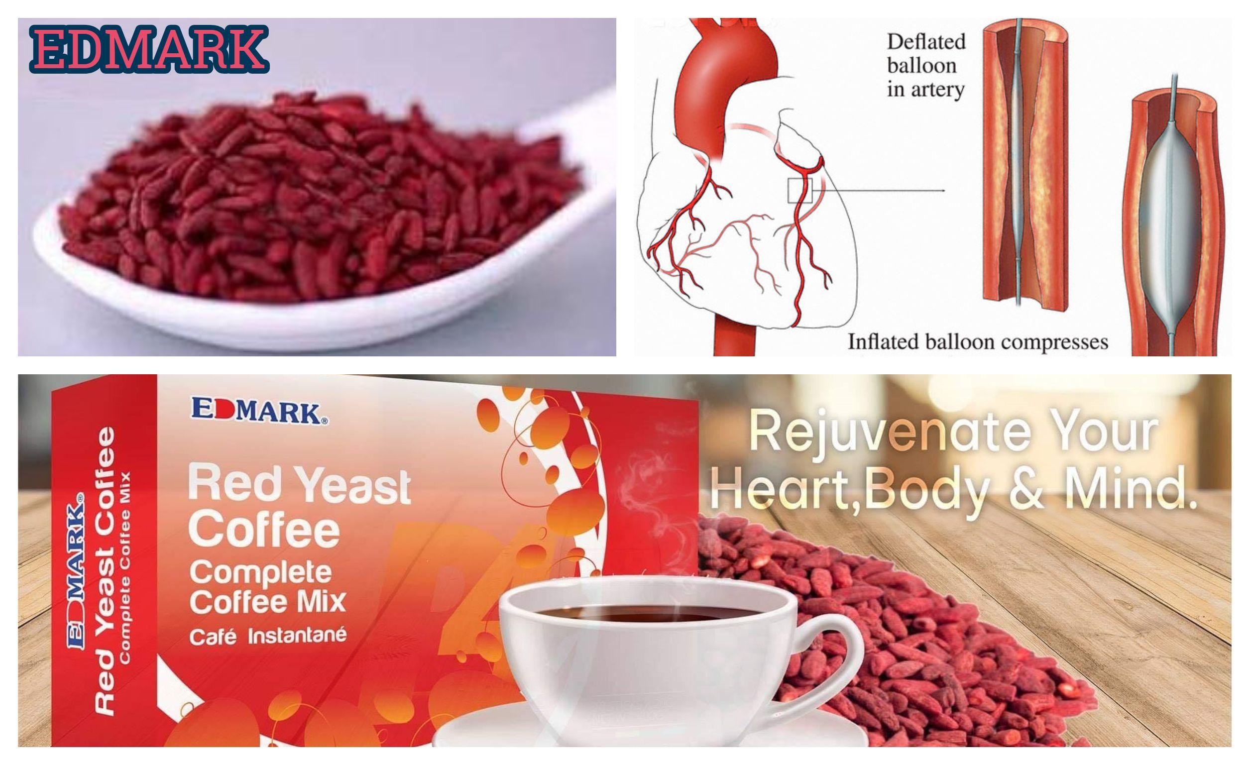 Red Yeast قهوة الخميرة الحمراء مضاد للدهون الثلاثية و مضاد للكولسترول ومدعمة للقلب و الأوعية الدموية و مفيدة للدورة الدموية Coffee Mix Yeast Rejuvenation