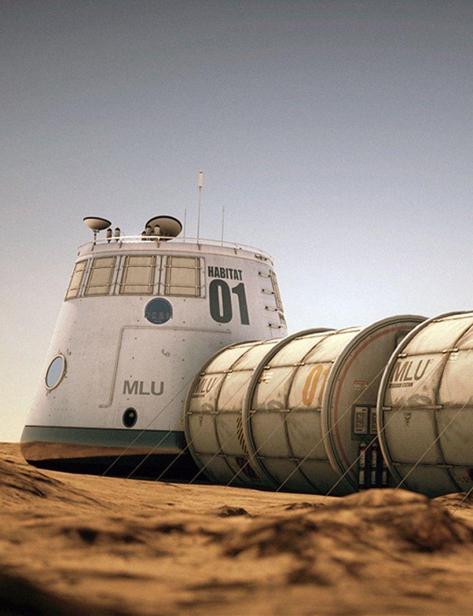 Mars Habitat | Mars space, Mars colony, Space colony