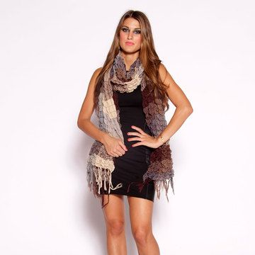 Oversized Colorblock Scarf Brown now featured on Fab.