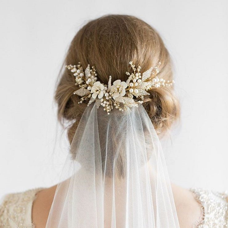 updo wedding hairstyle with handmade accessories #wedidng #hairstyles #bridalhairstyle #weddinghairstyles #updos