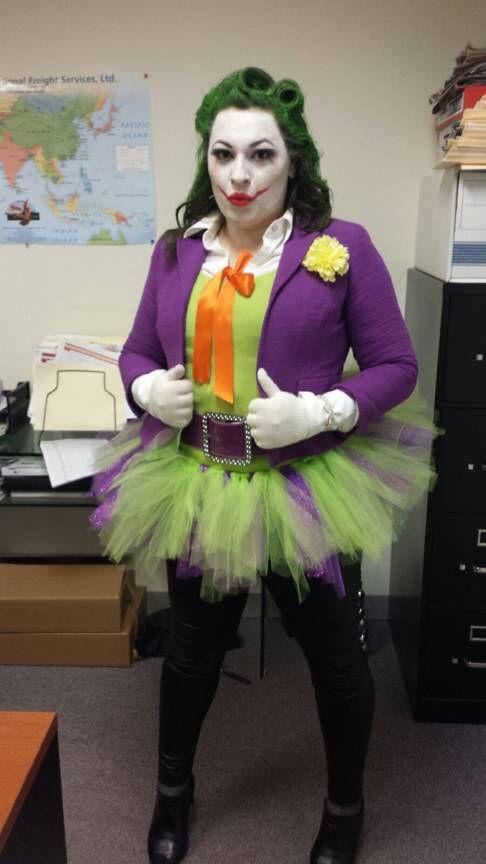 Female joker halloween costume drisfraces disfraces - Disfraz joker casero ...