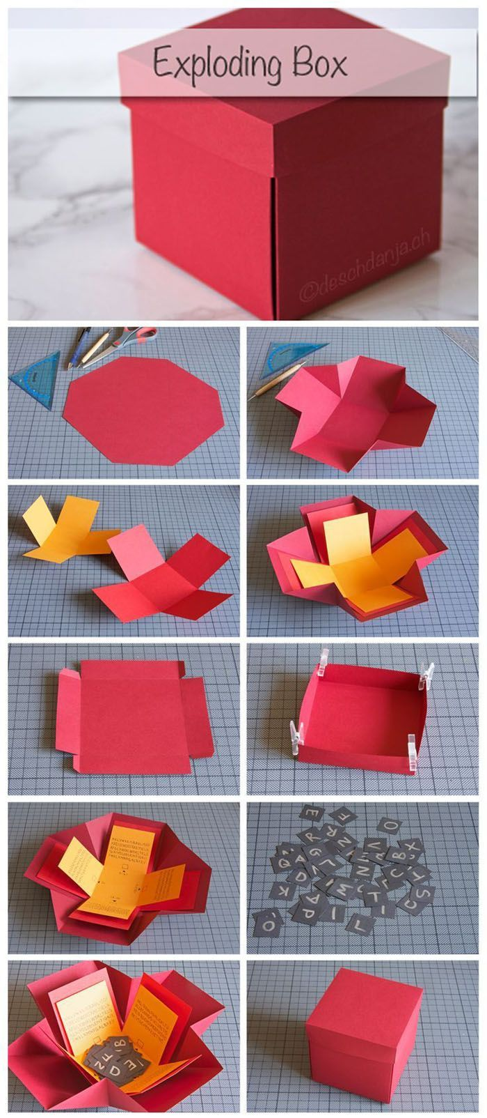 Crafting a gift box - Instructions for stimulating creativity#box #crafting #creativity #gift #instructions #stimulating