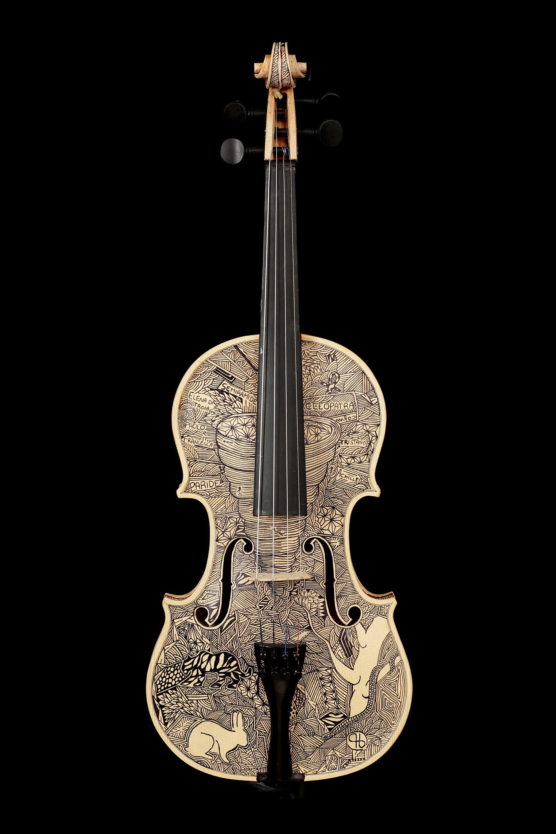 The Talent Of Leonardo Frigo Violin Art Violin Old Musical Instruments