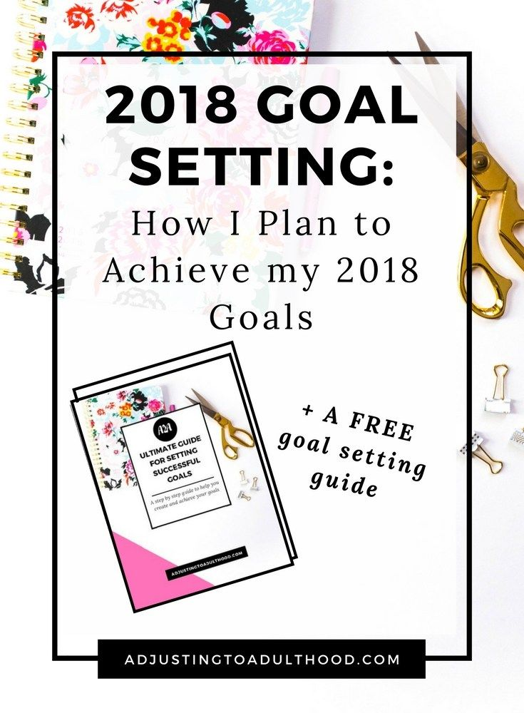 2018 Goal Setting Goal setting, Goals, Goals worksheet