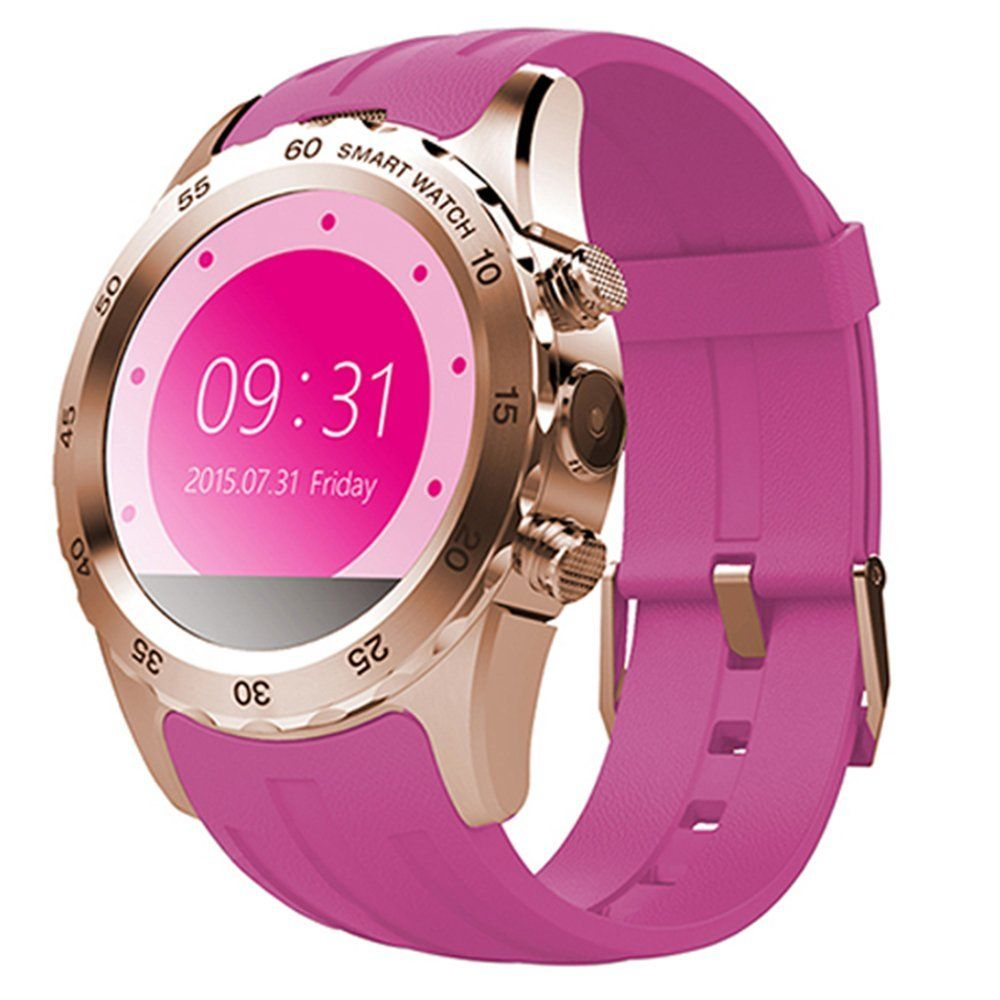 Awow fitness tracker with phone runner spy watch pink glod