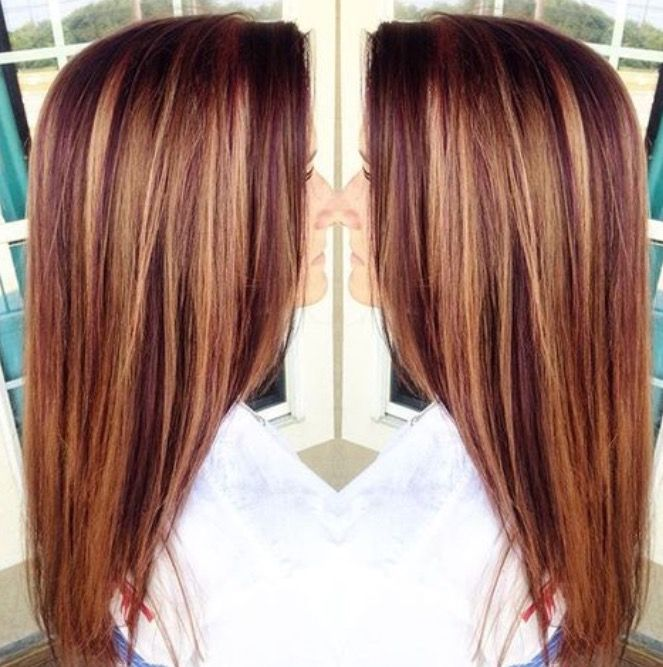 Carmel And Auburn Low Lights Hair Hair Color Auburn