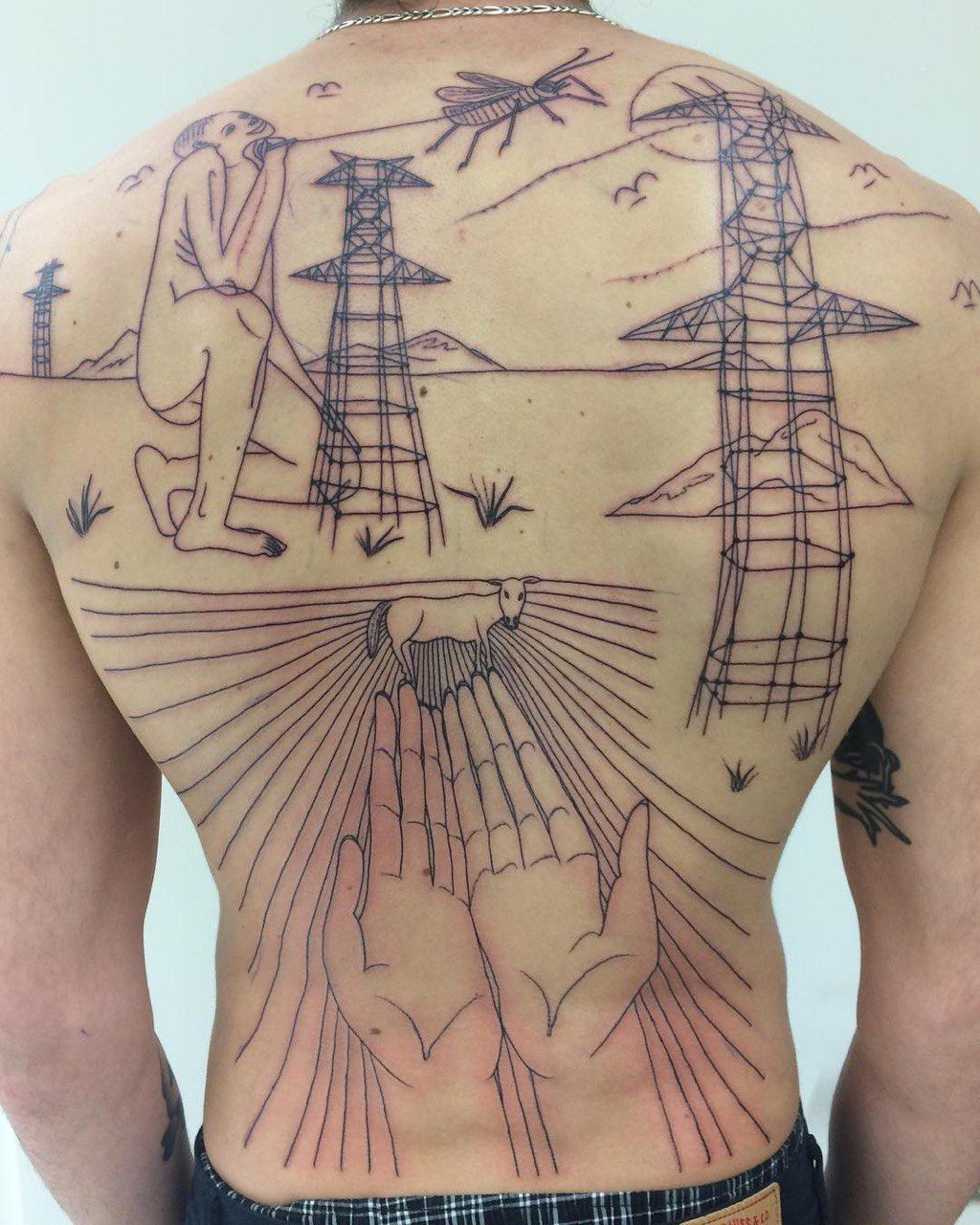 Back tattoo by traveling tattoo artist ds_008 ds_008 in