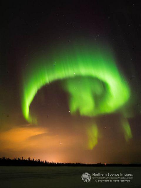 Aurora Borealis - Alaska - not exactly a sunset, but as beautiful. GUYS THIS LOOKS LIKE A HETALIA CURL