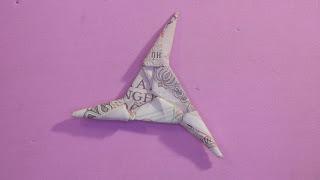 Photo of cách xếp tiền giấy: cách xếp tiền giấy phi tiêu 3 cánh
