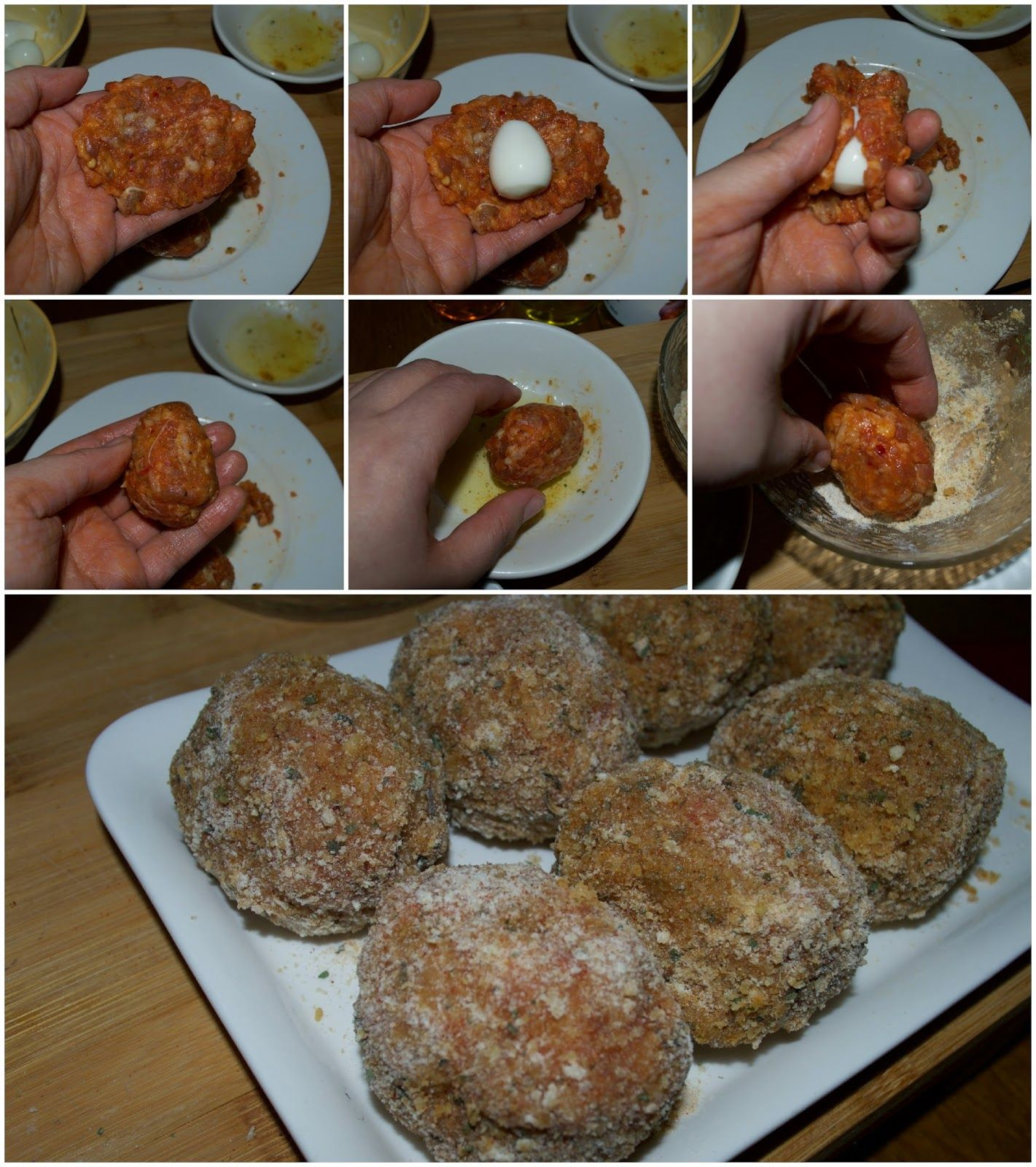 Baked Scotch Quail Eggs